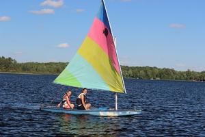Sailing at Camp Eagle Ridge.