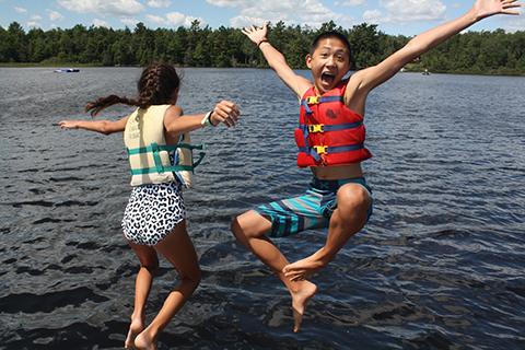 Camp Eagle Ridge water sports.